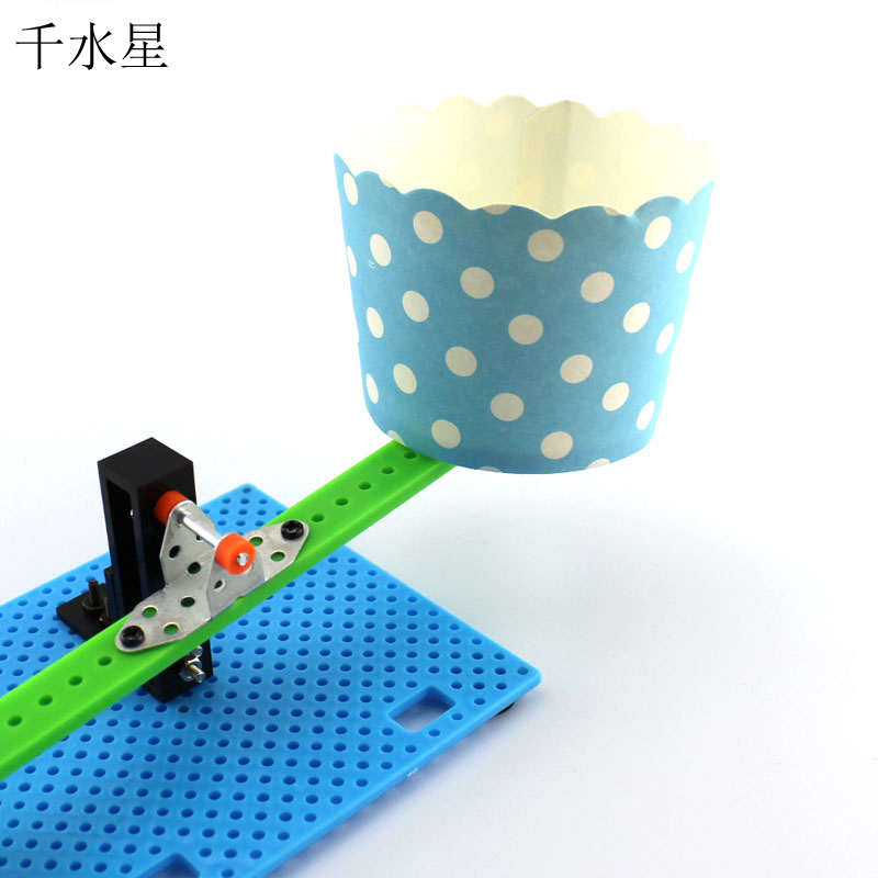 纸杯天平秤 小学生科技小制作 科普班教材 diy儿童创意手工模型