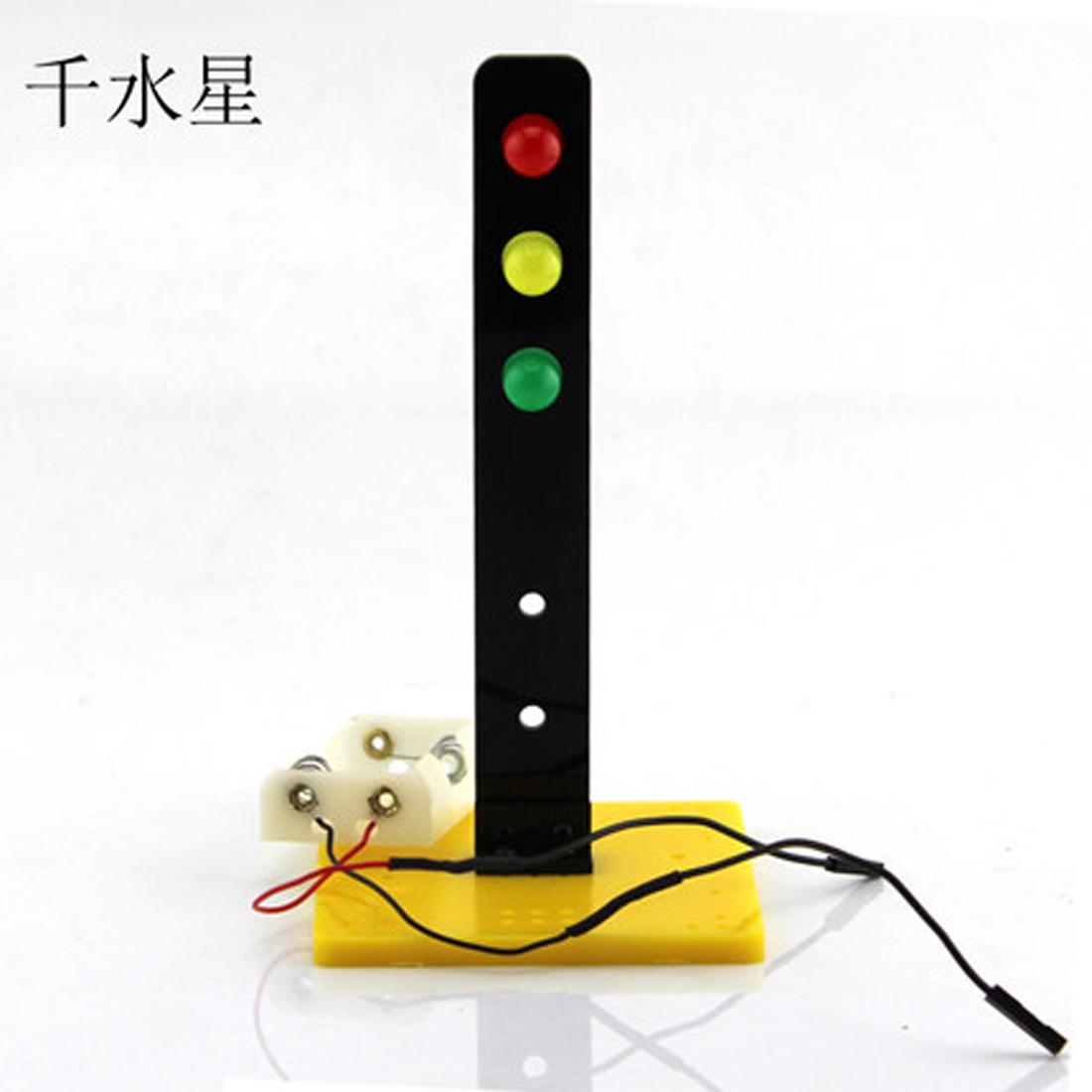 7575红绿灯 科技小制作 小发明 信号灯 红绿灯模型玩具 diy科普